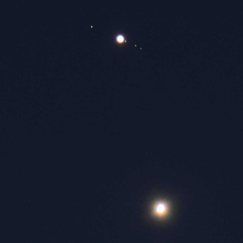 Jupiter with moons and Venus