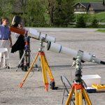 Row of Telescopes